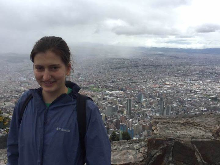 Julia Friedman at the top of Cerro Monserrate overlooking Bogotá, Colombia.