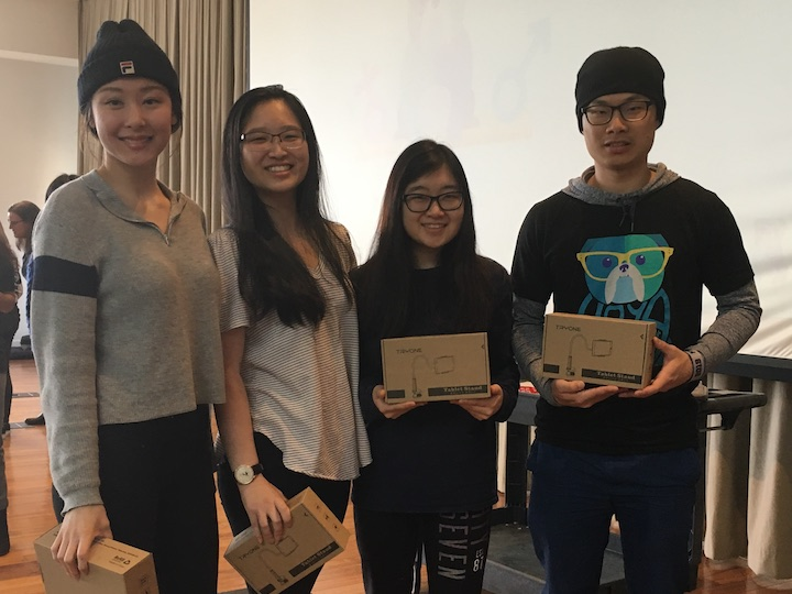 From Left to Right: Elly Meng (C'10), Kathryn Li (C'19), Narae Lee (C'20), and John Li (National University of Taiwan)