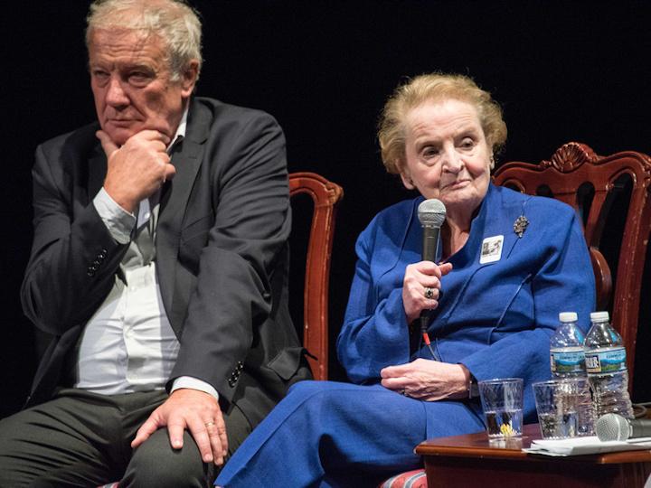 Ambassador Martin Palous and former Secretary of State Madeleine Albright