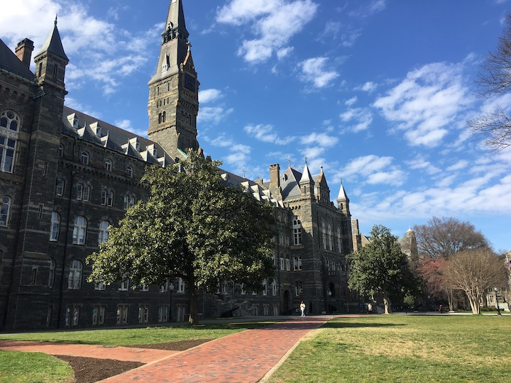 Photo of Healy Hall taken by Hoyasforshe fellow, Lily Westover (C'22)