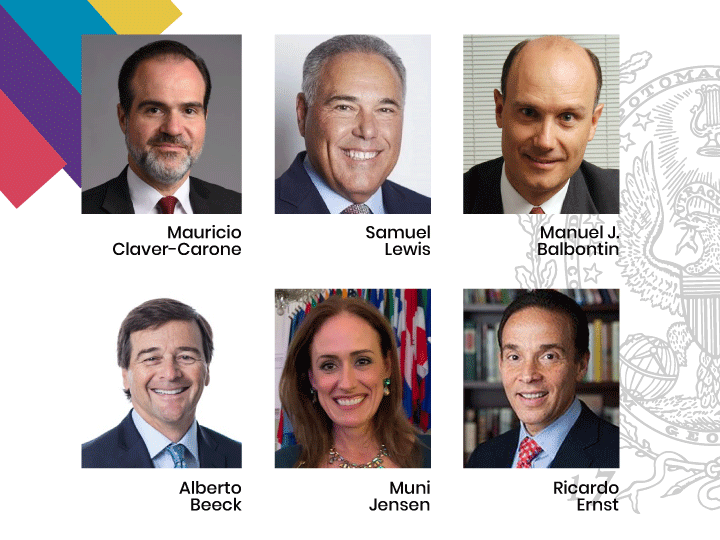 """Panelists of the """"Rebuilding Latin America from the Inside"""" webinar"""