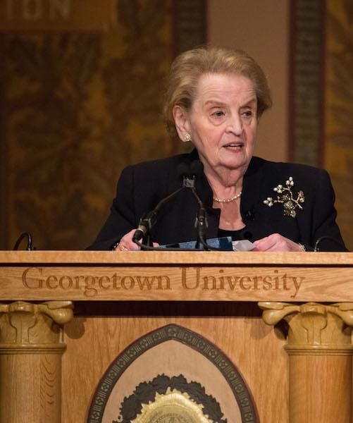 Former Secretary of State Madeleine Albright Opens Berkley Anniversary Symposium
