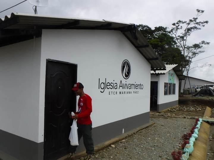 Avivamiento megachurch in Mesetas, Colombia, about 160 miles south of Bogotá.