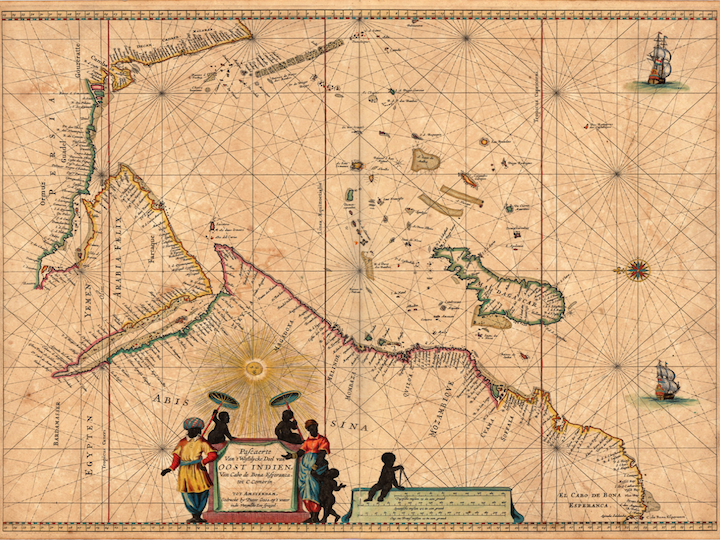 Arabia and Indian Ocean Goos Map 1666 A.D., Koeman IV (Maritime Atlases), Goos pp. 190 ff.