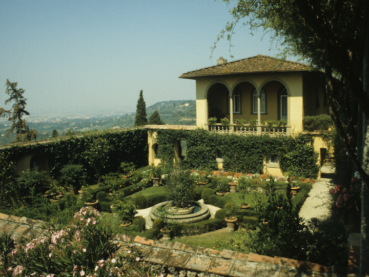 The grounds of Villa Le Balze overlooking Florence, Italy.