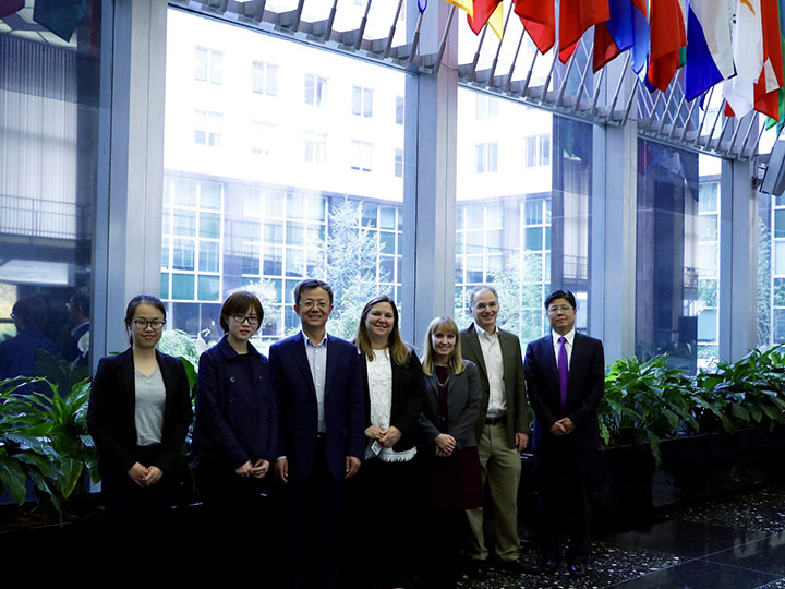 Lewis at the U.S. Department of State with participants from the U.S.-China Research Group on Climate Change in 2017