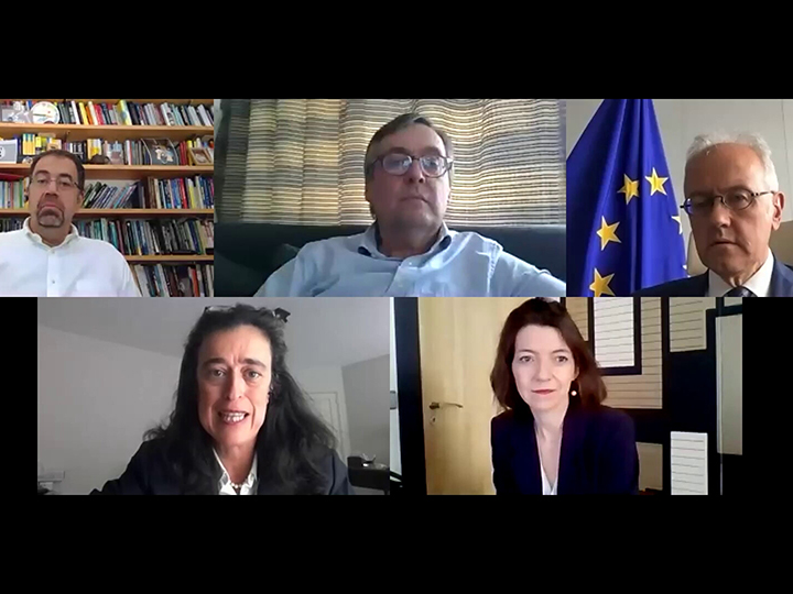The panelists came together on Zoom to discuss the future of the world's institutions.