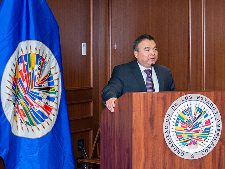 Ambassador Nestor Mendez, Assistant Secretary General of the OAS, at Georgetown University