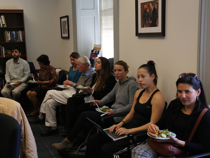 Students at GHI Brown Bag Event