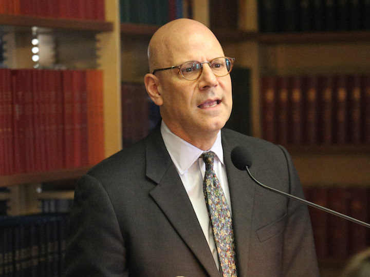 School of Foreign Service Dean Joel Hellman addresses conference attendees.