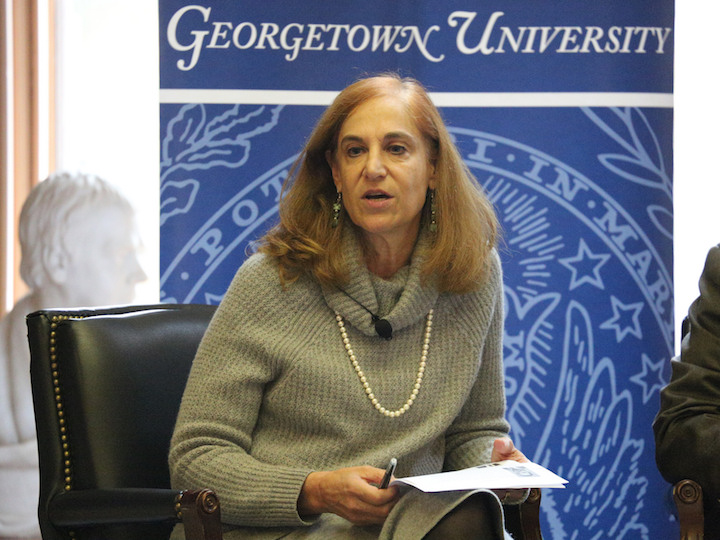 Moderator Bonnie Glaser receives questions from the audience.
