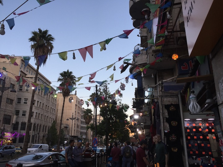 Photo of downtown Amman, where Caila McHugh spent her summer leading community-based dialogues.