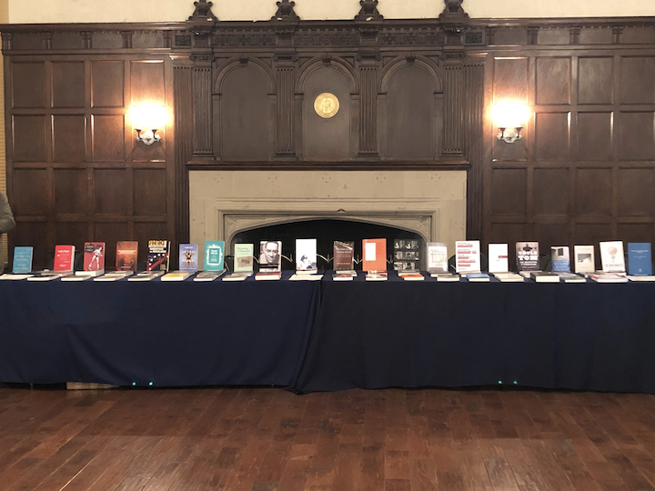 Major academic presses showcased recent scholarly publications in the humanities at the book exhibit.