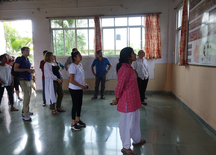 Georgetown students visit the Watershed Organization Trust field office in Ahmednagar, Maharashtra