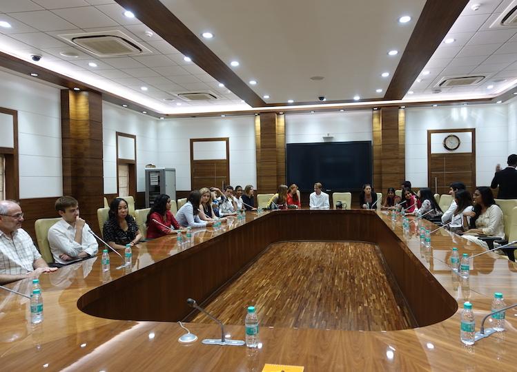 India Innovation Lab students visit the residence of Chief Minister of Maharashtra Devendra Fadnavis