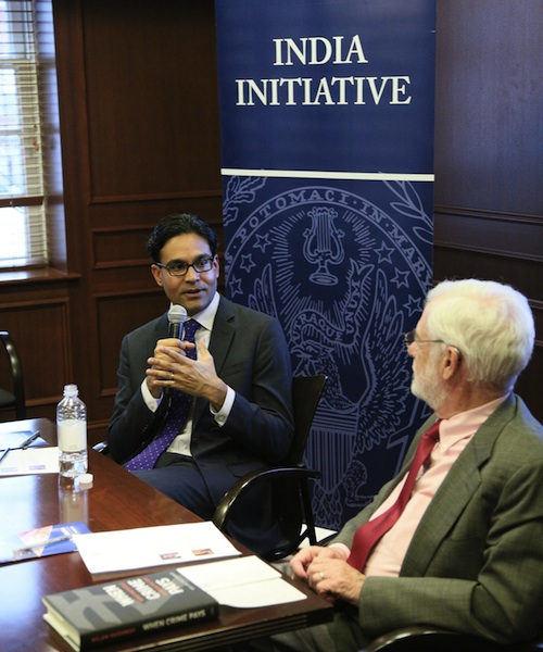 """Milan Vaishnav of the Carnegie Endowment of International Peace gives a talk on his most recent publication, """"When Crime Pays: Money and Muscle in Indian Politics."""""""