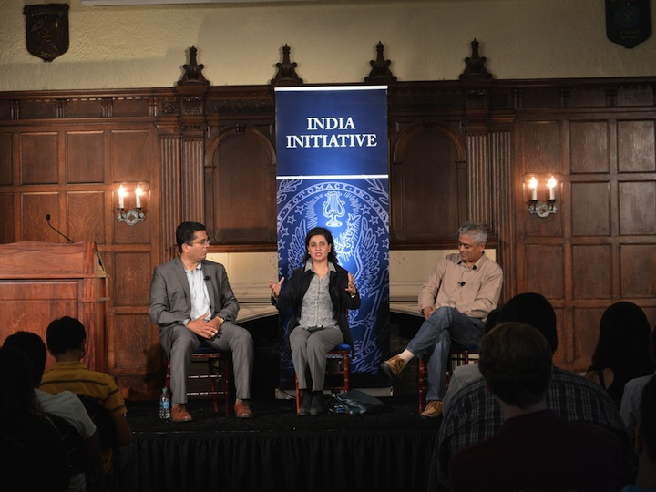 India Initiative Distinguished Fellows and world-renowned journalists Rajdeep Sardesai and Sagarika Ghose discuss the impact of the media on the political landscape in India.