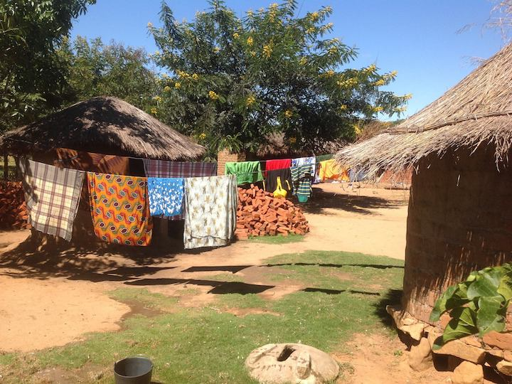 Njalanjira, Tsangano District, Tete Province, Mozambique 2017 -  Inside view of the village of Njalanjira