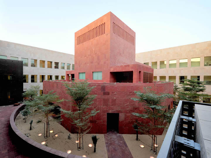 The Interior Courtyard of a building on the GU-Q Campus