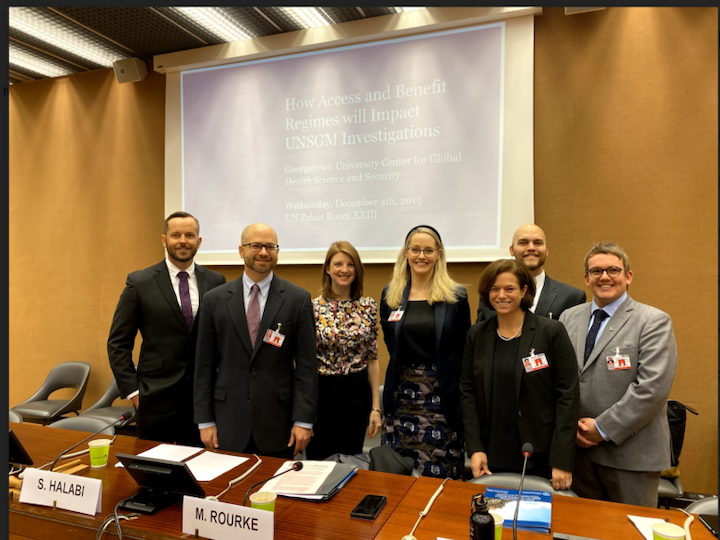A group of researchers who are invited to 2019 BWC Meetings of States Parties Materials