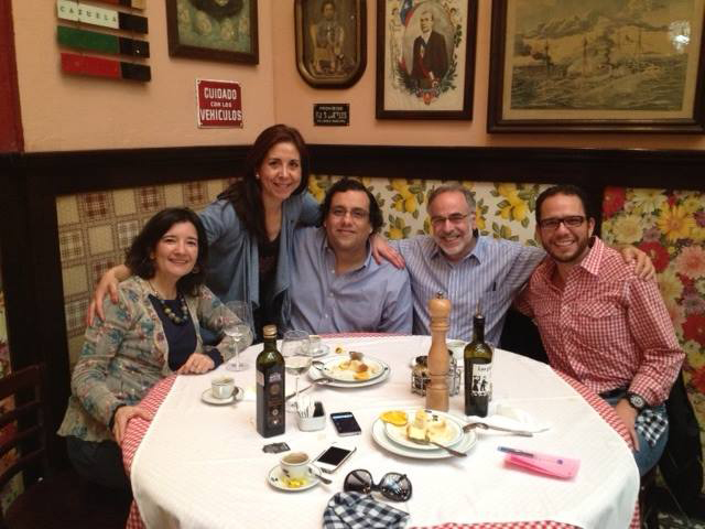 Marc Chernick with alumni in Santiago de Chile