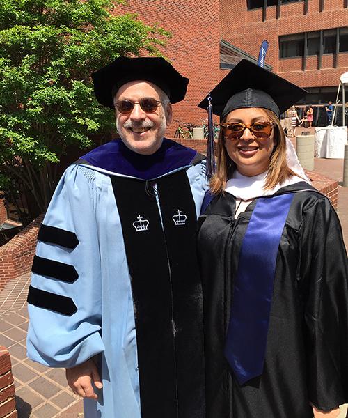 Matt Chernick with CLAS student Bernadette Hobson
