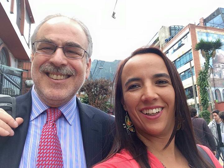Marc Chernick with Fabiola Leon Posada