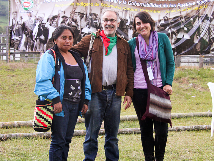 Marc Chernick at Consejo Regional Indígena del Cauca 2013 Congress with Meredith Pierce (right)