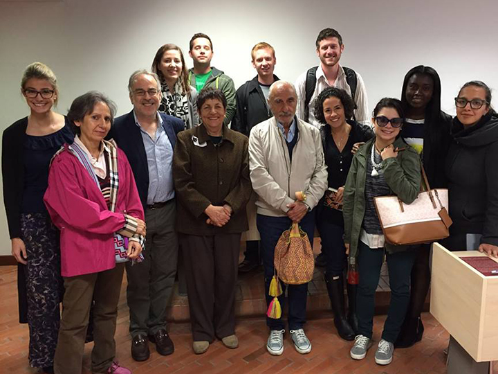 Marc Chernick with participants and faculty  of GU-Los Andes Program 2016