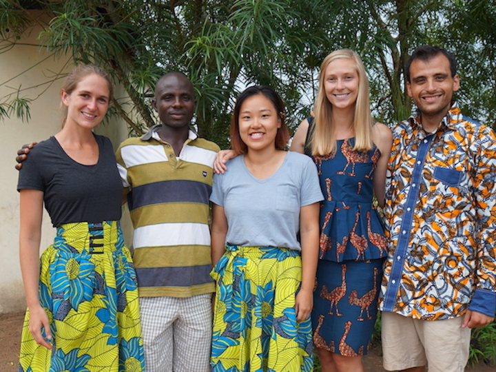 The Guébie documentation research team with native speaker collaborator Badiba Olivier Agodio.