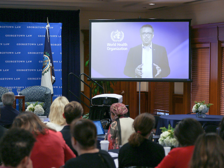 WHO Director-General Tedros Adhanom Ghebreyesus introduces the importance of health with justice by video
