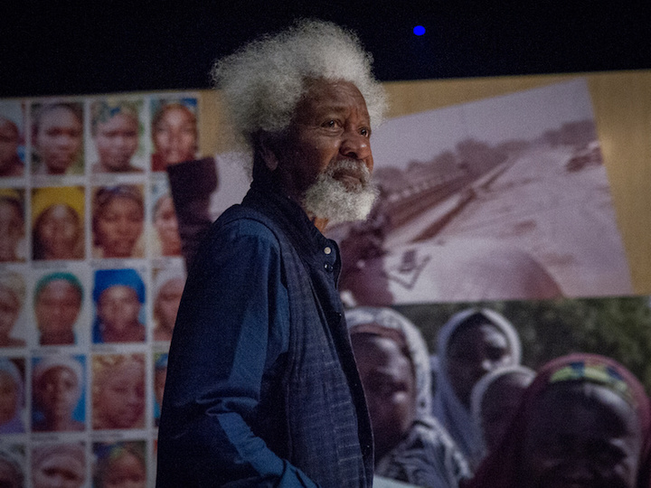 """Nobel laureate Wole Soyinka in """"The Chibok Girls: Our Story,"""" sharing excerpts from his epic poem """"A Humanist Ode for Chibok, Leah"""""""