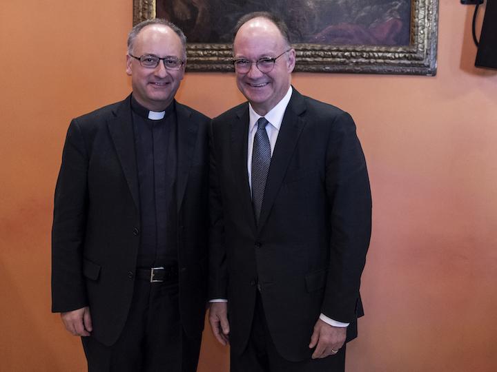 Fr. Antonio Spadaro and President John J. DeGioia