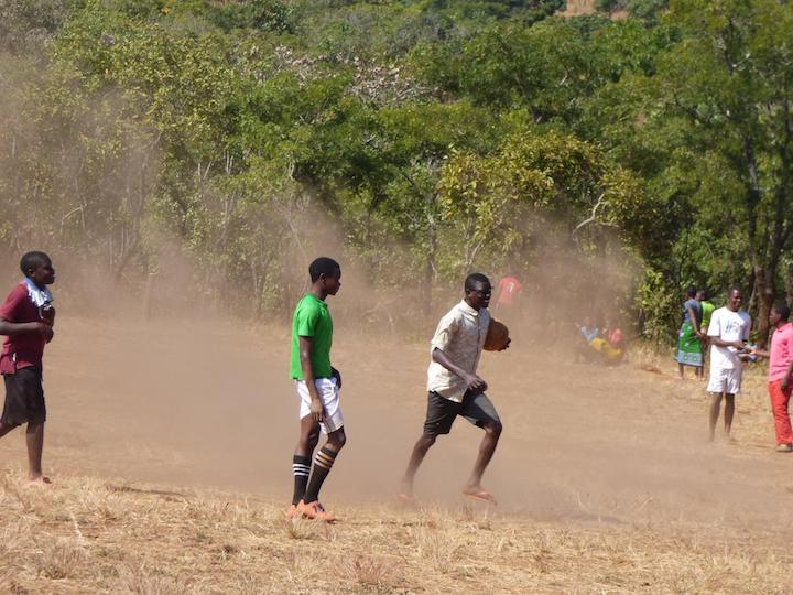 St. Ignatius Loyala High School, Tsangano District, Tete Province, Mozambique 2017 - Students playing soccer on the weekend