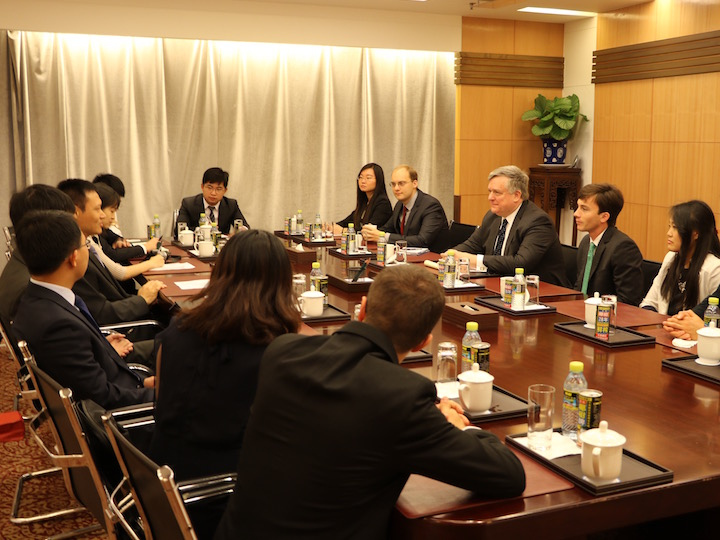 Student fellows visit Chinese Ministry of Foreign Affairs in Beijing.