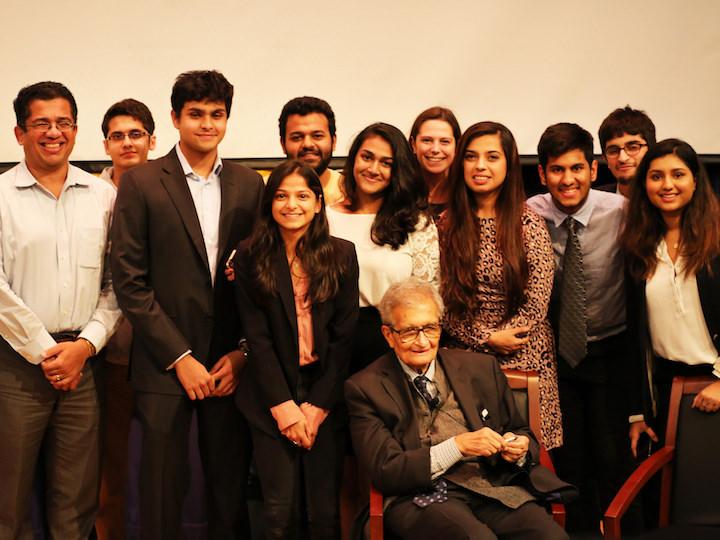 India Initiative Student Fellows Meet with Nobel Laureate Amartya Sen