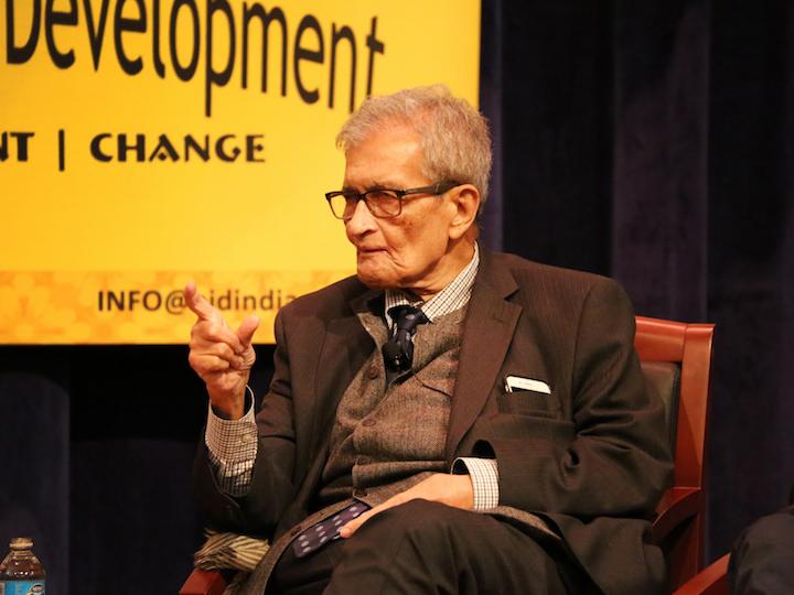 Nobel Laureate and Harvard Professor Amartya Sen Discusses Social Welfare and Economics at Georgetown University