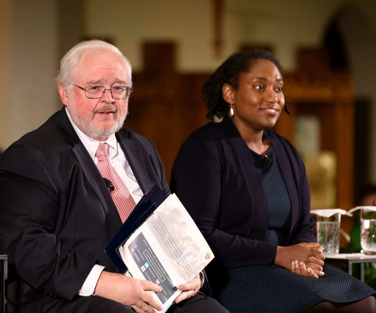Initiative on Catholic Social Thought and Public Life  director John Carr and Georgetown professor Marcia Chatelaine