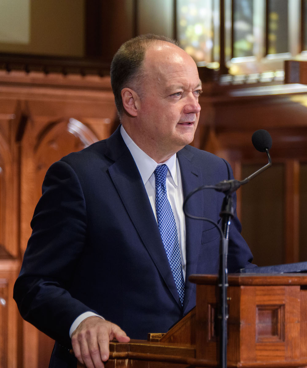 """President DeGioia offers remarks on the significance of the """"Dahlgren Dialogues."""""""