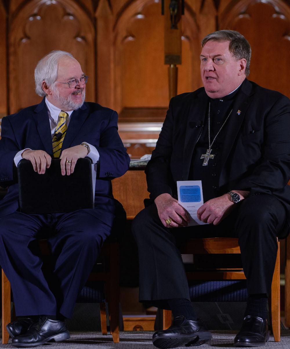 CST Director John Carr and Cardinal Tobin.