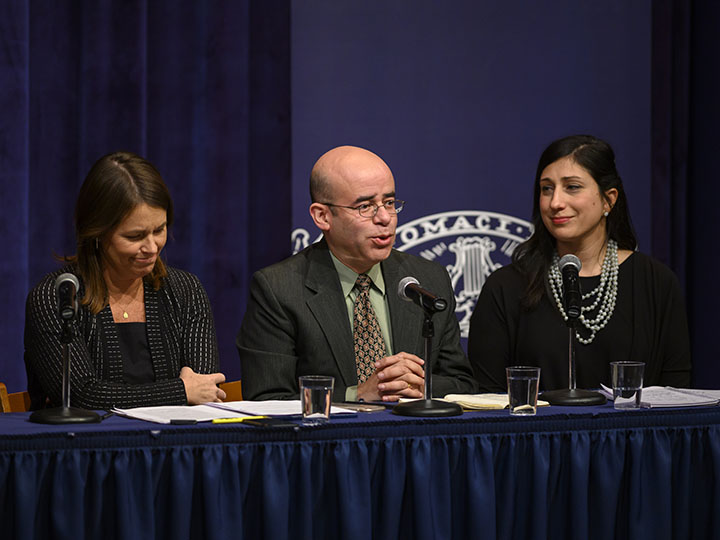 Panelist Hosffman Ospino shares how the Latino Catholic community is impacted by polarization.