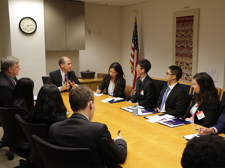 2018 Student Fellows during a policy briefing at the U.S. Department of State.