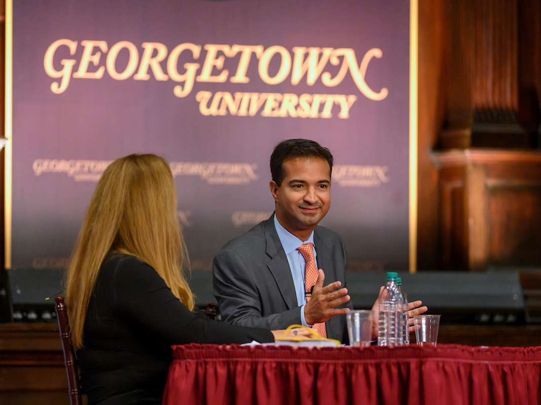 Panelist Carlos Curbelo discusses the need for comprehensive immigration reform in the United States.