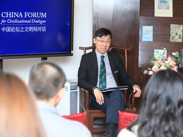 "Simon Koo, executive director of The Beijing Center, provided his analysis of how ""interculturality"" can be achieved."
