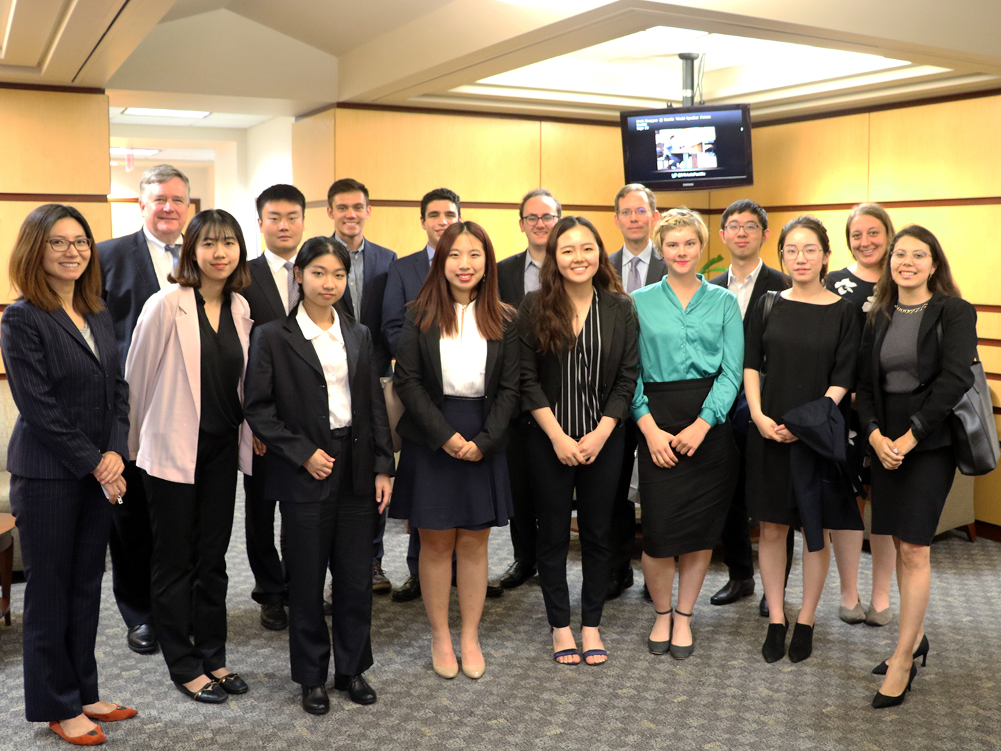 Student Fellows with Rick Waters following their discussion of U.S.-China relations