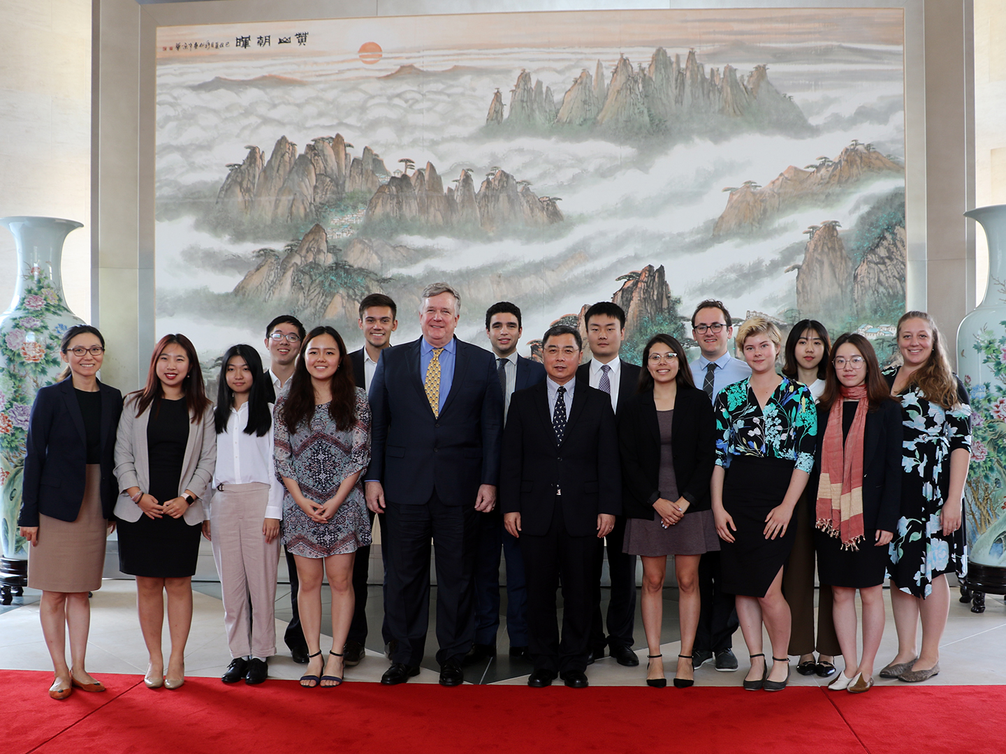 Student Fellows with Chinese DCM and Minister Li Kexin