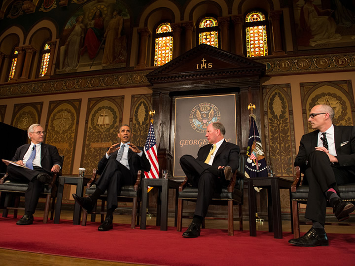 Catholic-Evangelical Leadership Summit on Overcoming Poverty - Barack Obama Panel