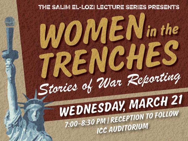 April 26: Women in the Trenches: Stories of War Reporting