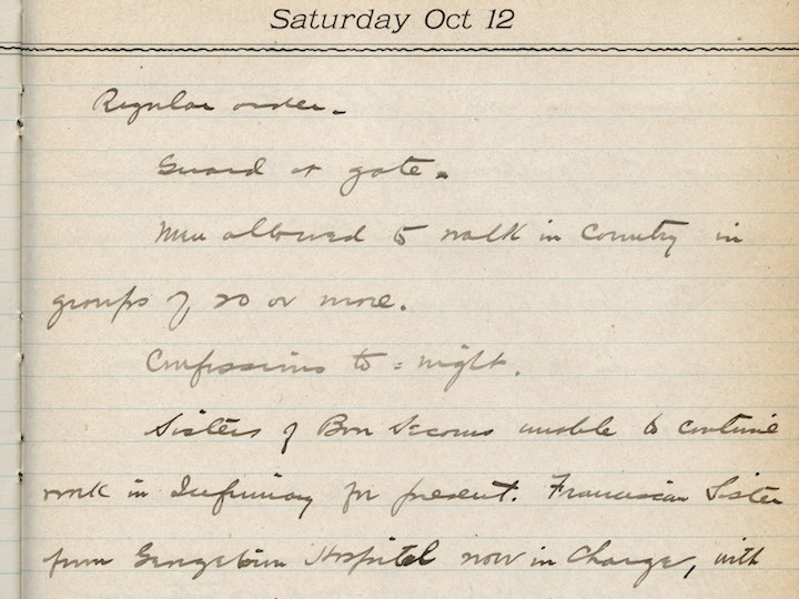 Prefect of Discipline diary entry from 1918