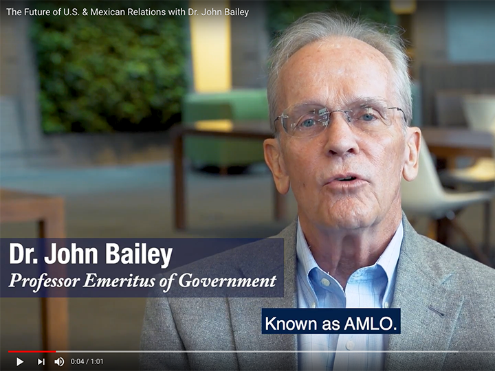 John Bailey, Professor Emeritus of Government
